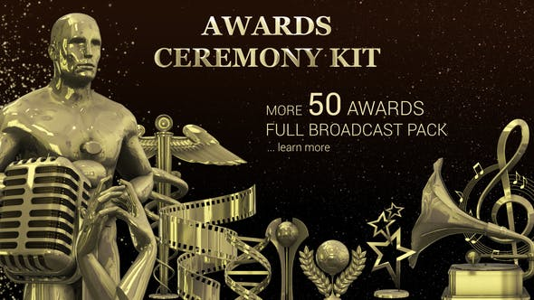 Videohive Golden Star Awards - Broadcast Pack - Free